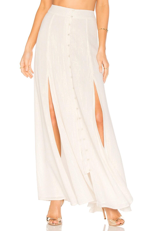 House of Harlow 1960 x REVOLVE Mirren Skirt en Gold & White