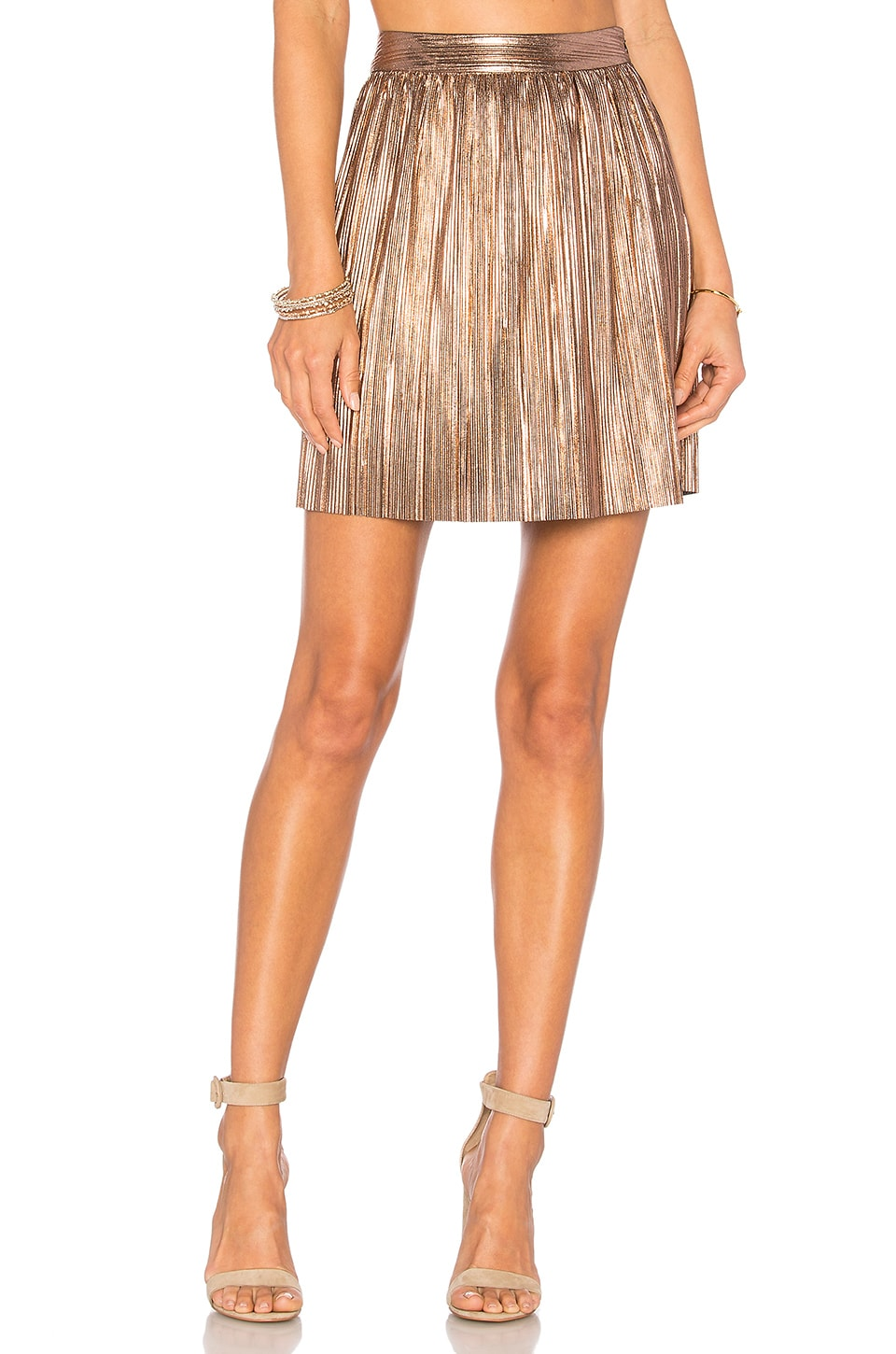 House of Harlow 1960 x REVOLVE Flint Mini Skirt in Rose Gold