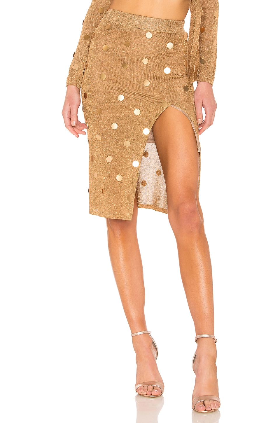 House of Harlow 1960 x REVOLVE Roxanne Skirt in Gold