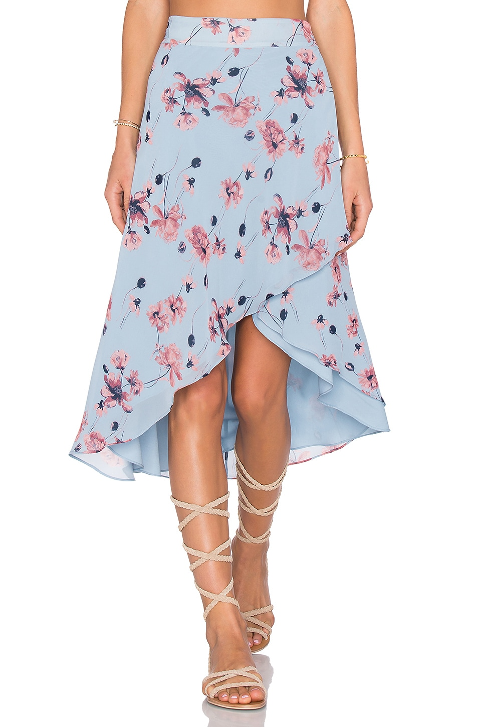 House of Harlow 1960 x REVOLVE Maya Wrap Skirt in Blue Floral