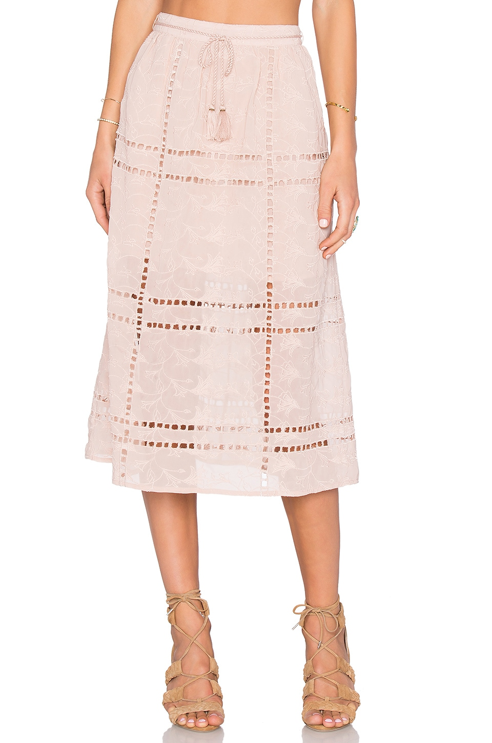 House of Harlow 1960 x REVOLVE Callie Midi Skirt in Taupe