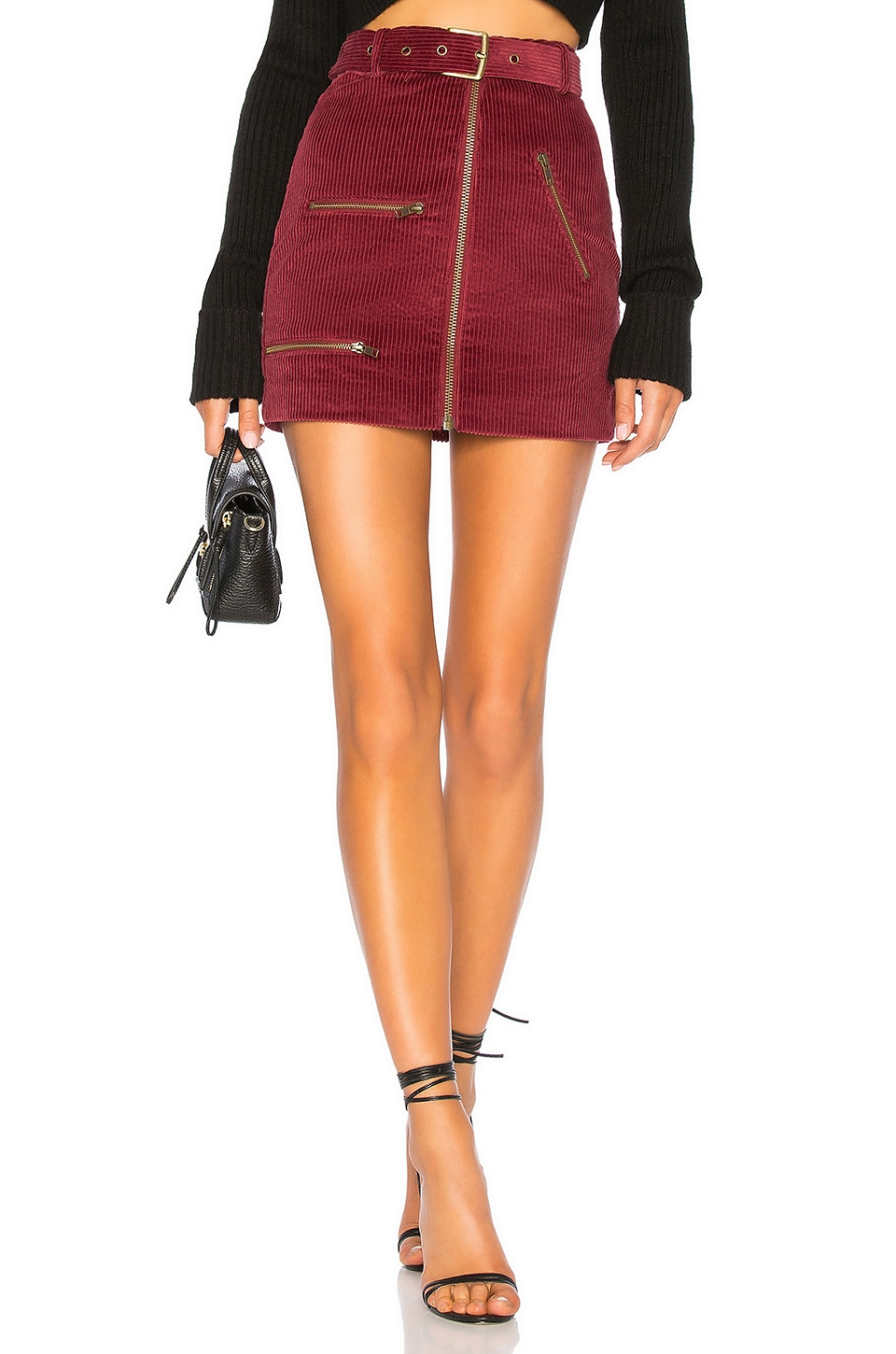 House of Harlow 1960 x REVOLVE Tori Skirt in Berry Red