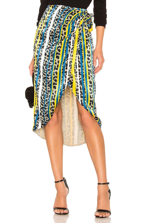 House of Harlow 1960 x REVOLVE Bobbi Midi Skirt in Yellow Leopard Stripe