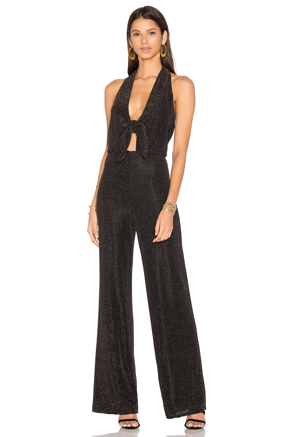 x REVOLVE Coco Jumpsuit Black & Gold by House of Harlow 1960