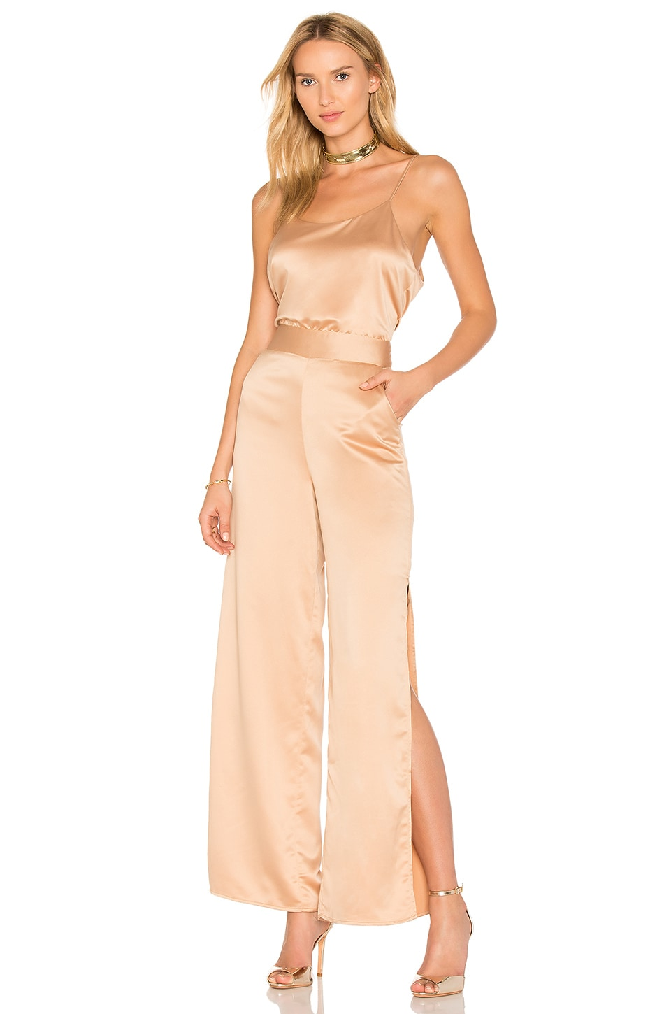 House of Harlow 1960 x REVOLVE Hunter Jumpsuit in Camel