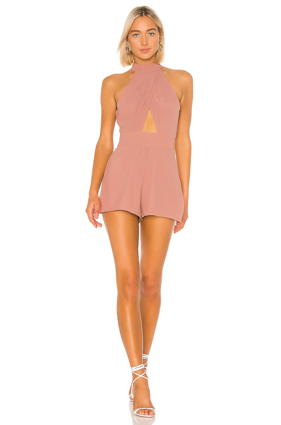 House of Harlow 1960 X REVOLVE Jessa Romper in Dusty Mauve