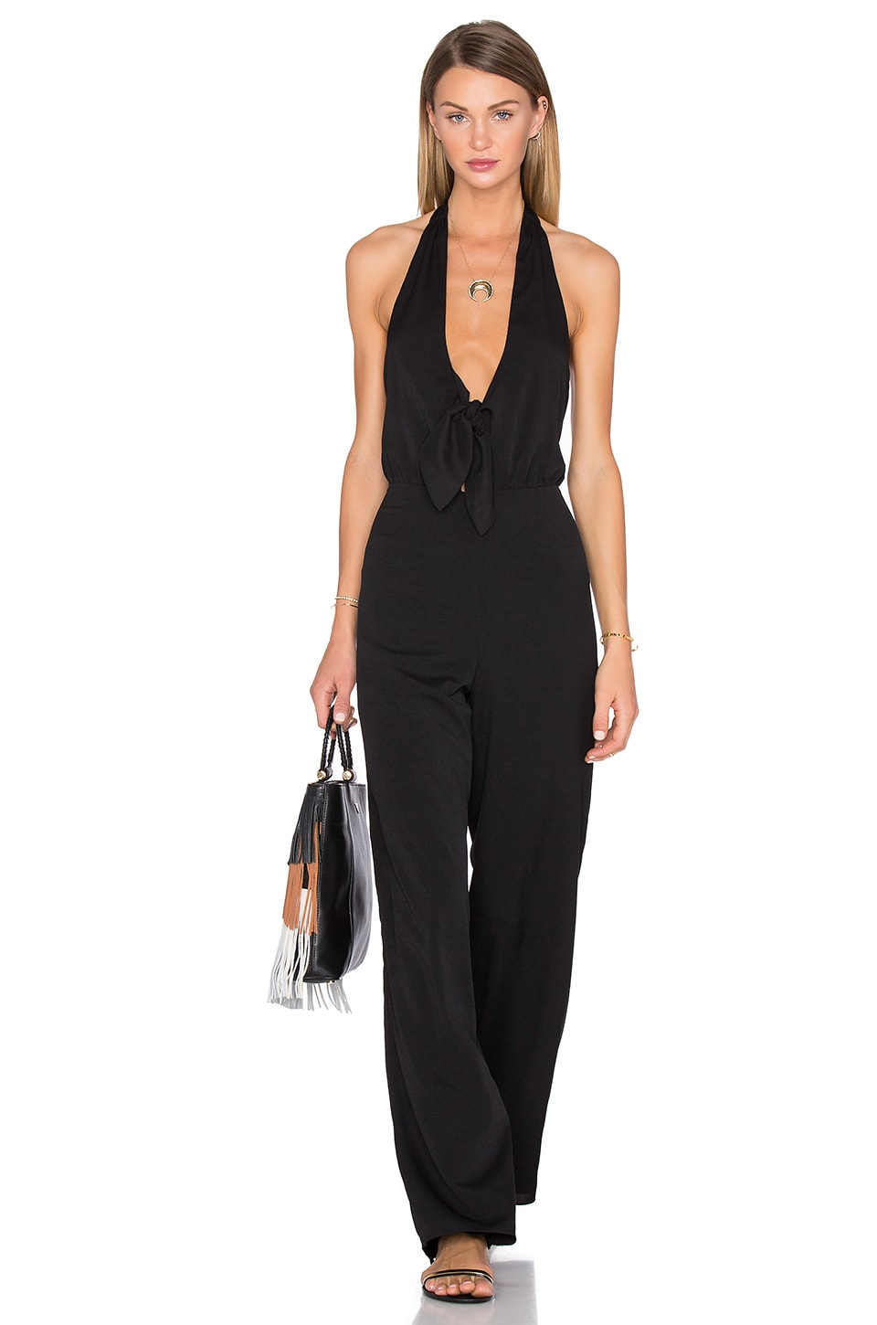 x REVOLVE Coco Tie Front Jumpsuit by House of Harlow 1960