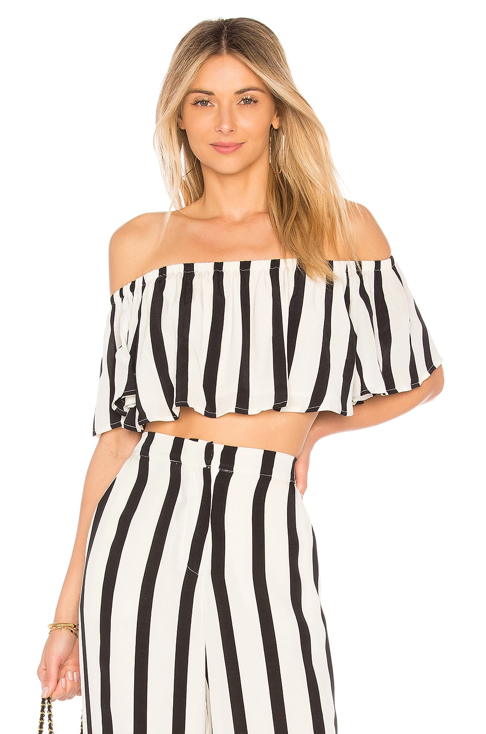 House of Harlow 1960 x REVOLVE Bree Crop Top in Caviar