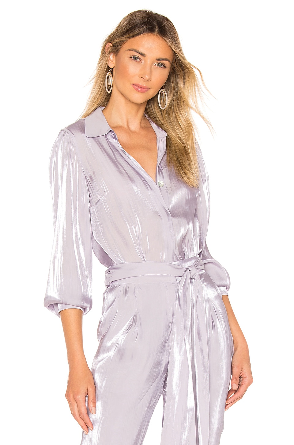 House of Harlow 1960 x REVOLVE Daniela Button Down in Lilac