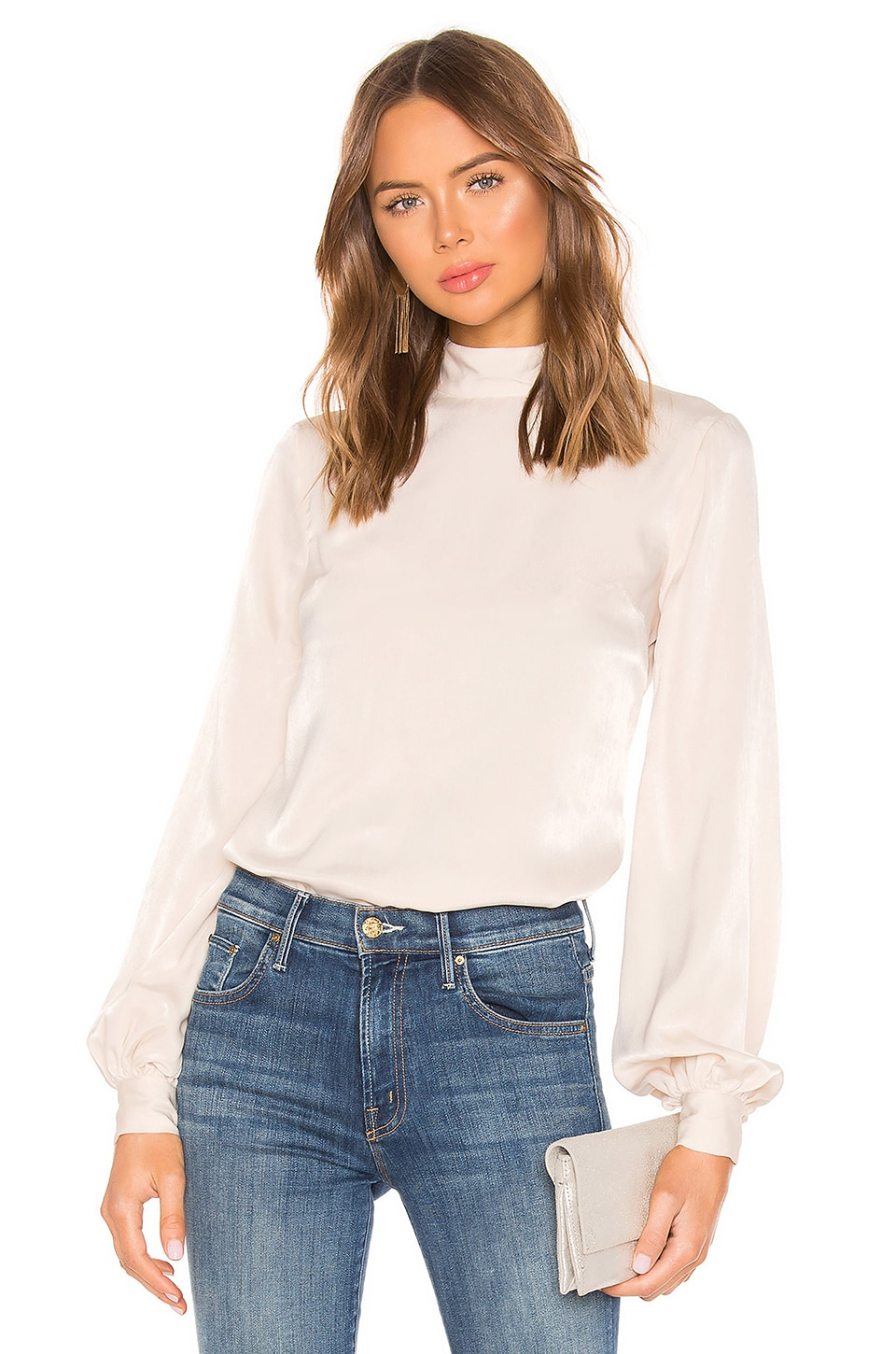 House of Harlow 1960 X REVOLVE Faya Blouse in Ivory
