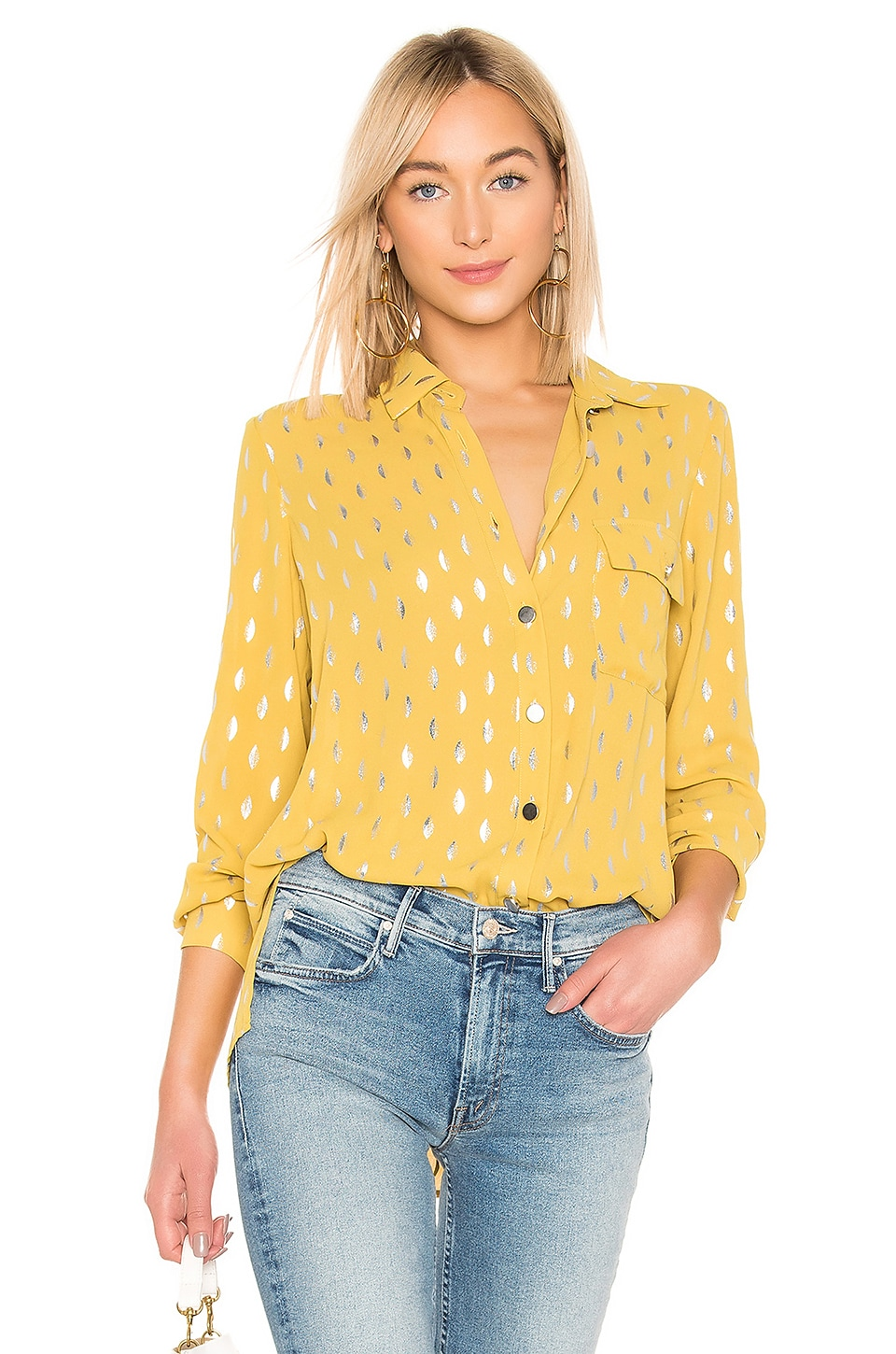 House of Harlow 1960 X REVOLVE Devina Button Down in Antique Yellow