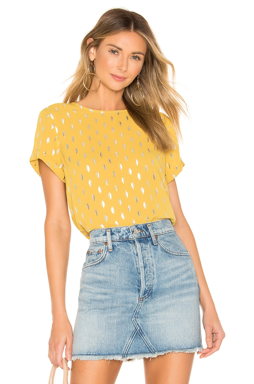 House of Harlow 1960 X REVOLVE Kira Top in Antique Yellow