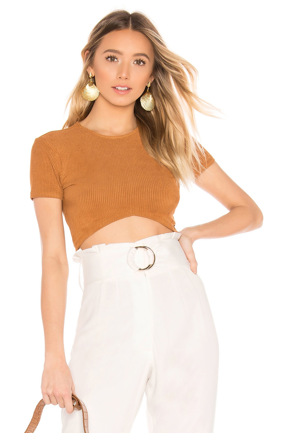 House of Harlow 1960 X REVOLVE Rika Top in Toffee