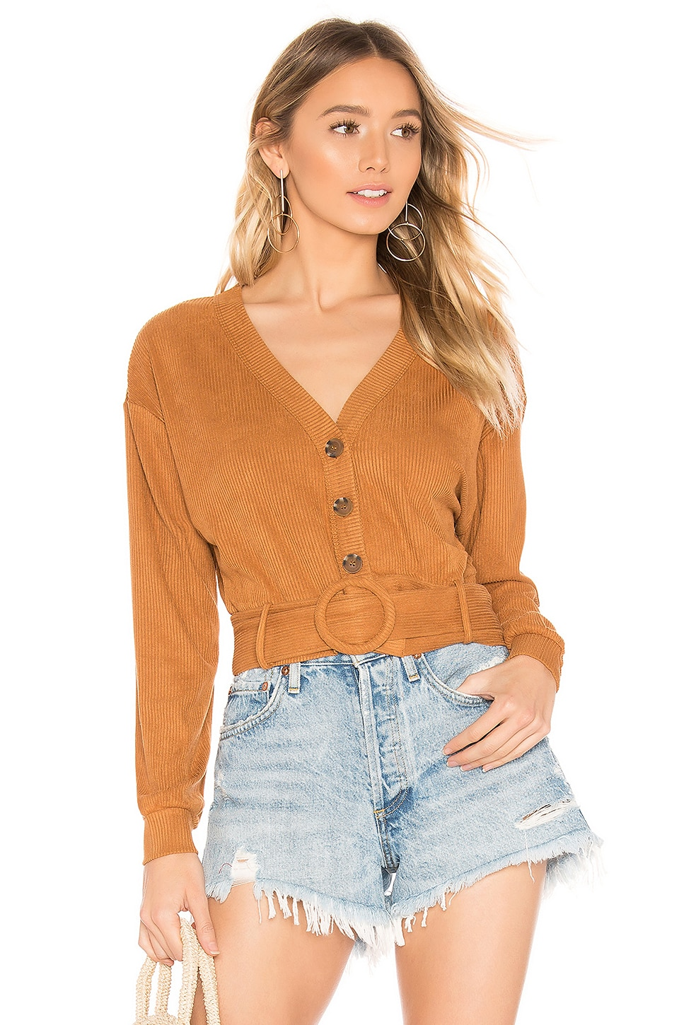 House of Harlow 1960 X REVOLVE Irene Top in Toffee