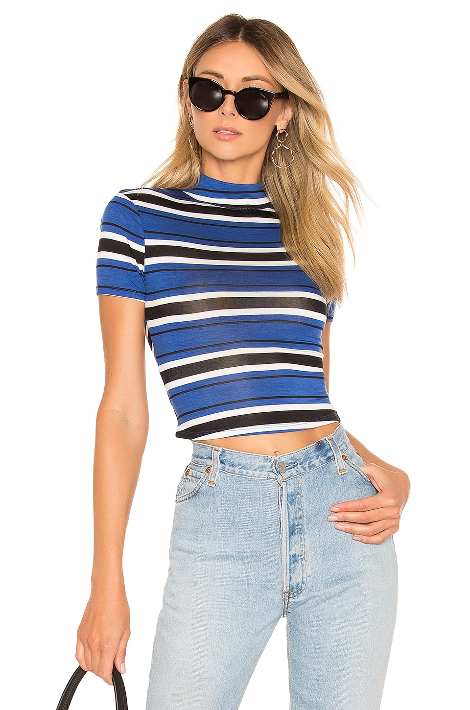 House of Harlow 1960 X REVOLVE Remington Tee in Lapis Stripe