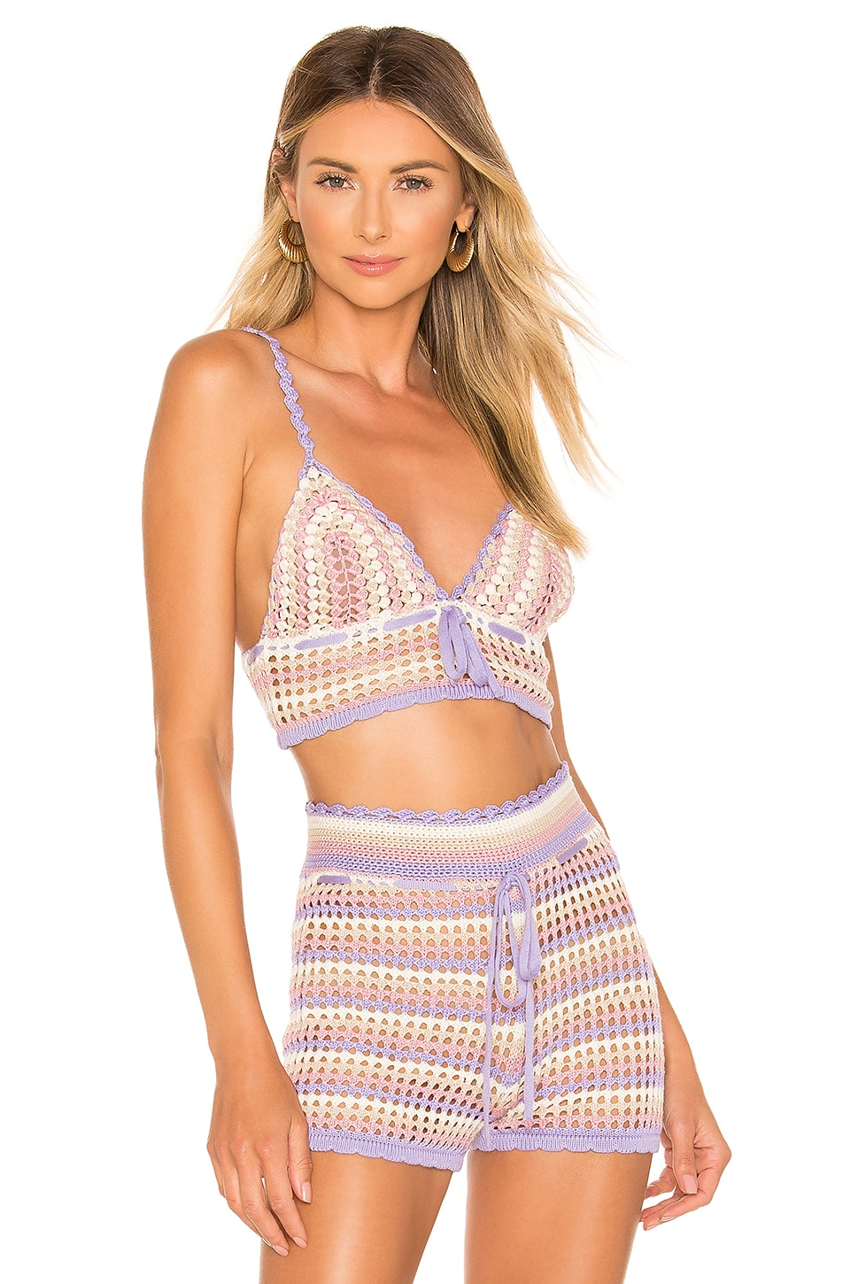House of Harlow 1960 x REVOLVE Canyon Bralette in Lavender Stripe