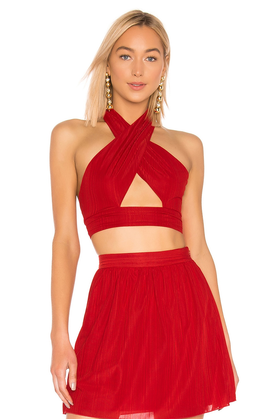 House of Harlow 1960 X REVOLVE Jules Top in Red