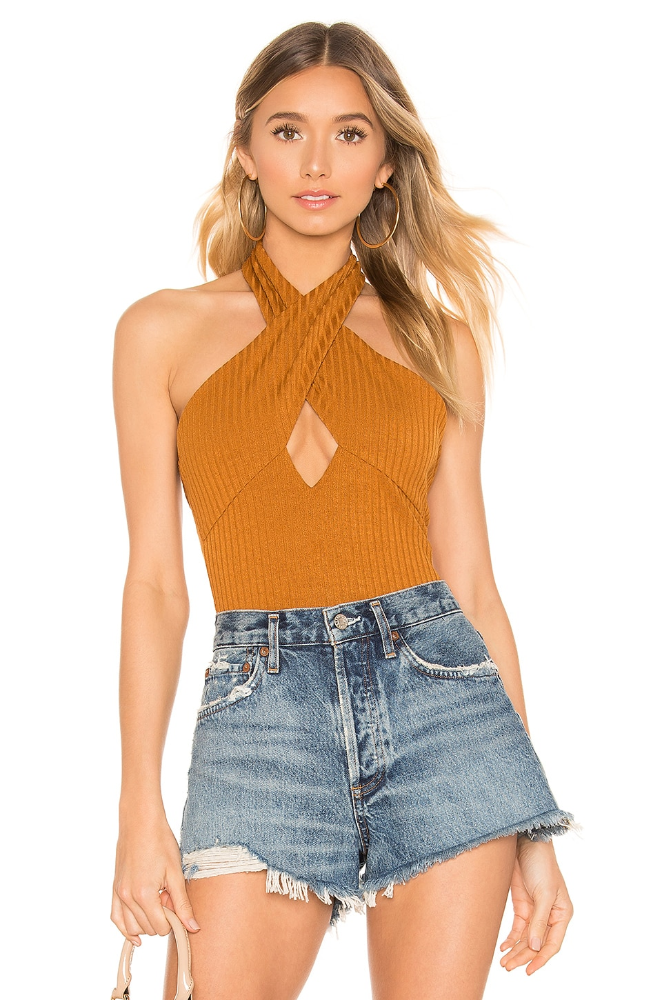 House of Harlow 1960 House of Harlow x Revolve 1960 Linde Bodysuit in Toffee