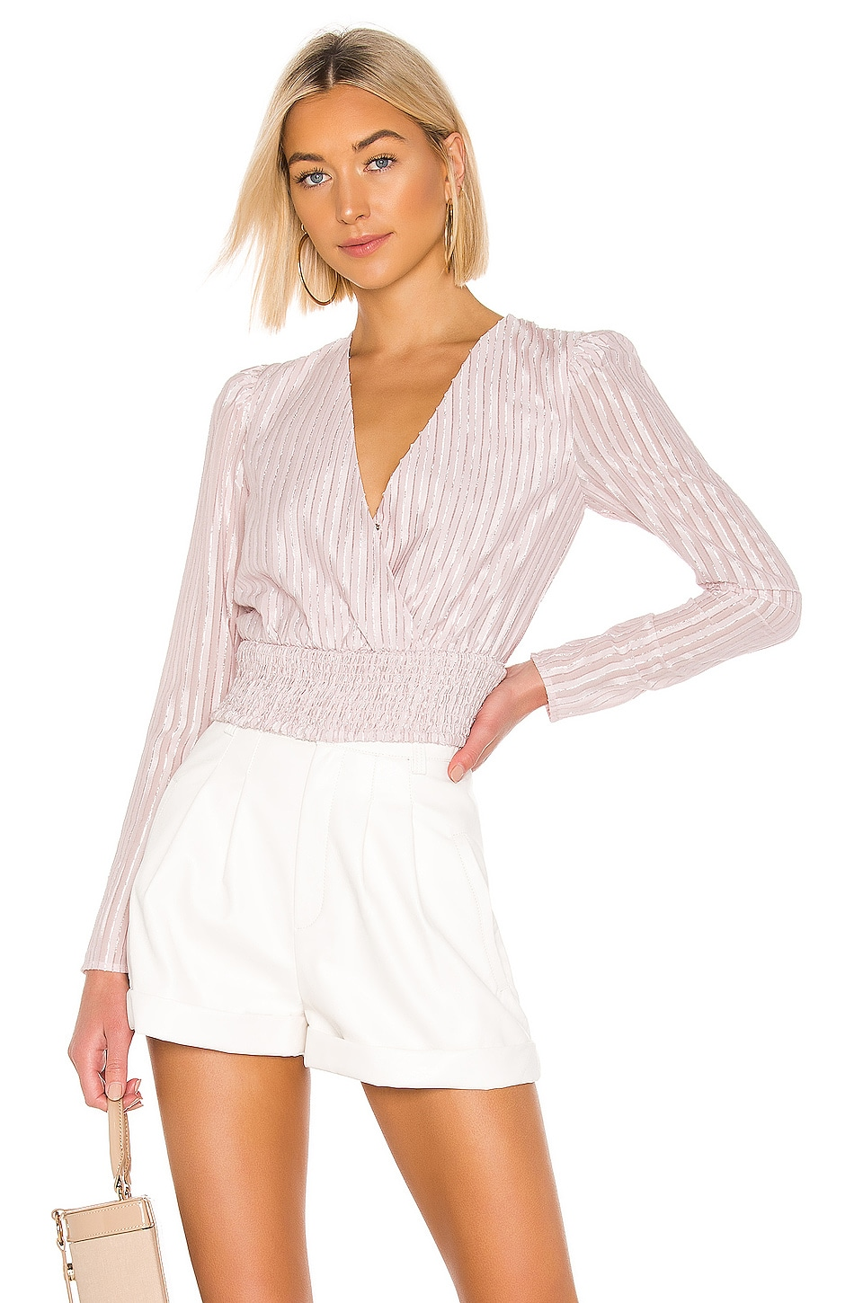 House of Harlow 1960 X REVOLVE Yiandro Blouse in Mauve