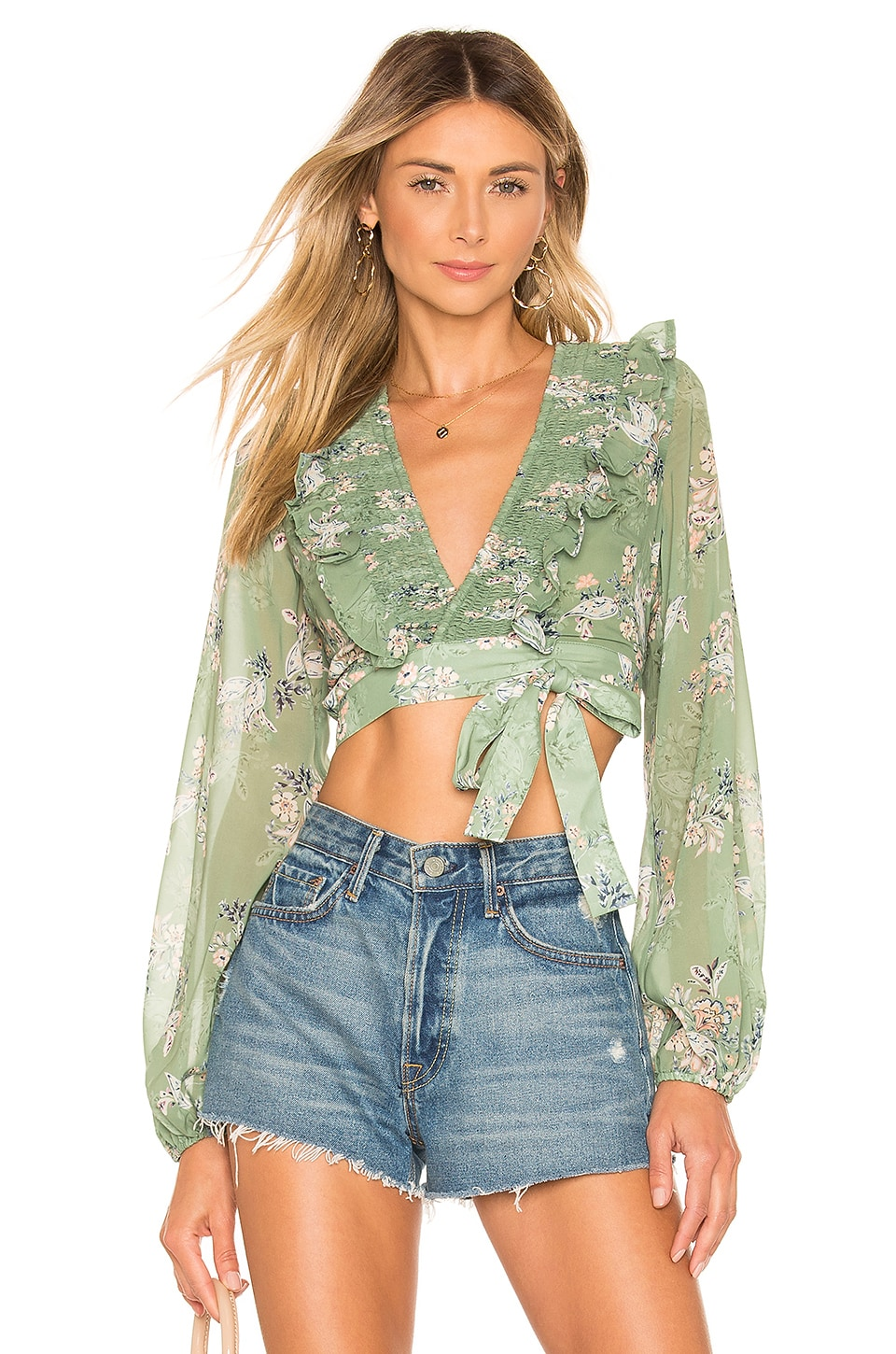 House of Harlow 1960 x REVOLVE Juniper Top in Sage Floral