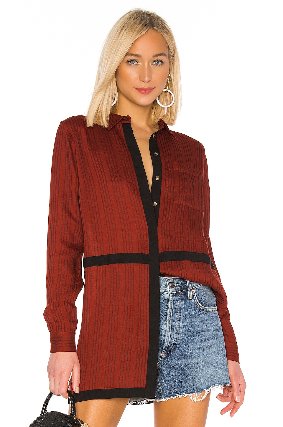 House of Harlow 1960 x REVOLVE Marie Blouse in Spice Red