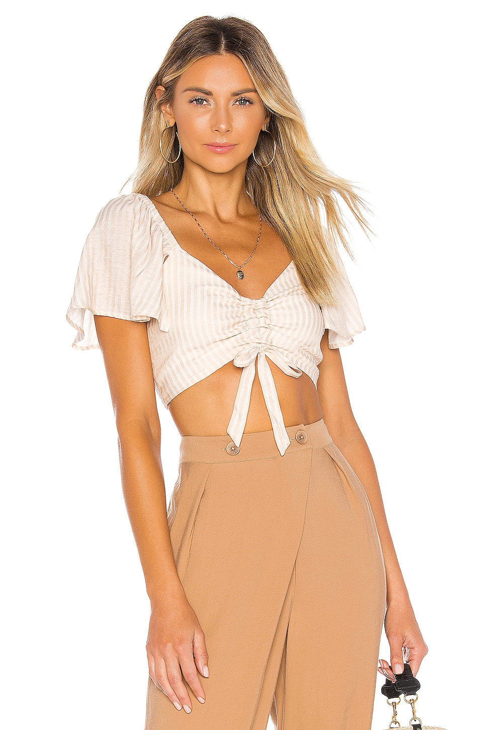House of Harlow 1960 x REVOLVE Brisa Top in Ivory