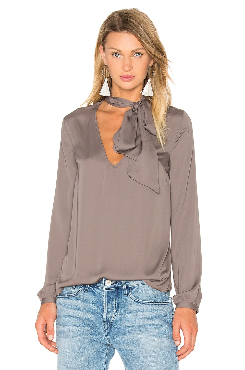 x REVOLVE Naomi Tie Neck Blouse by House Of Harlow 1960