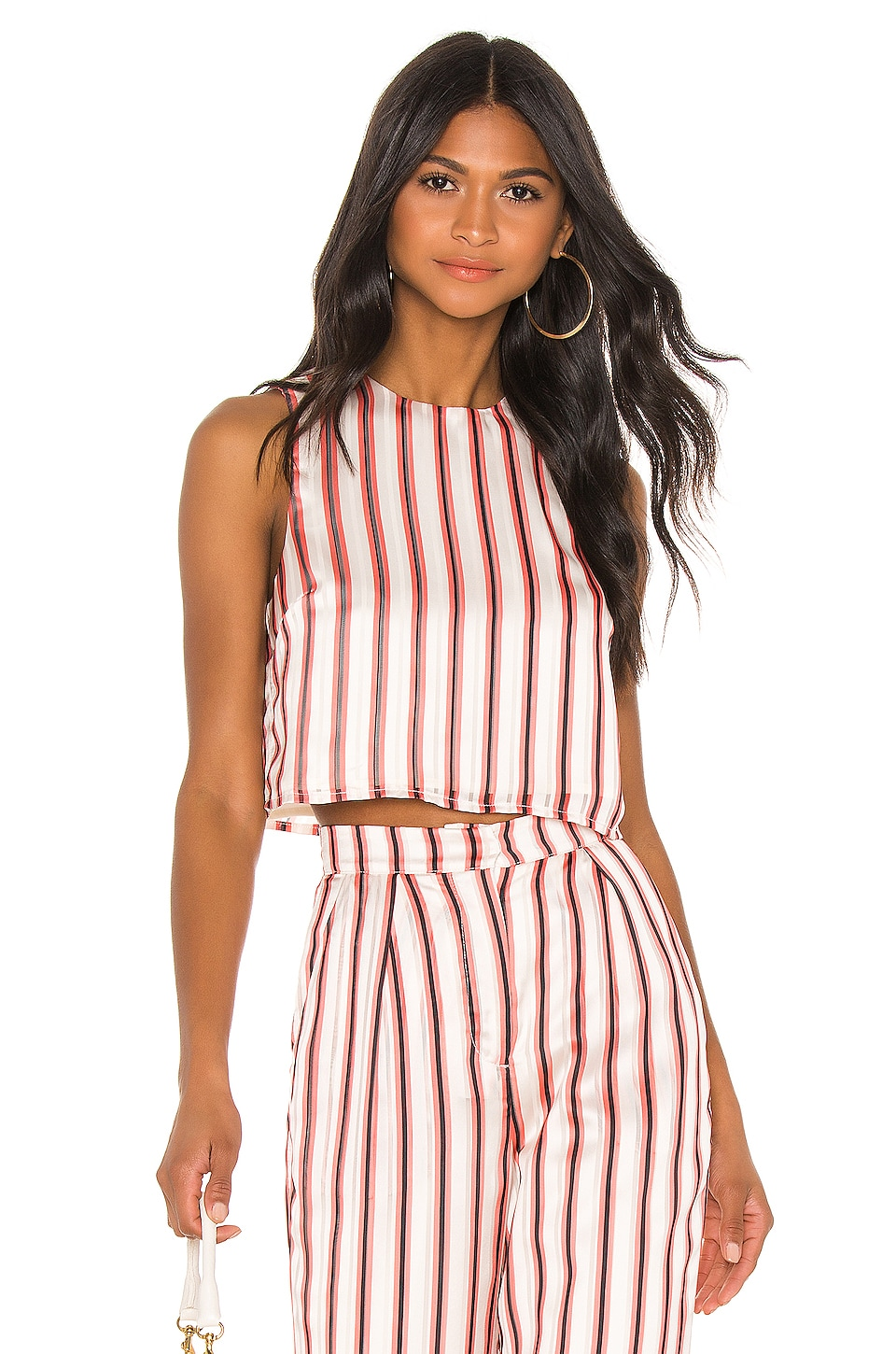 House of Harlow 1960 X REVOLVE Paula Crop in Red Pop Stripe