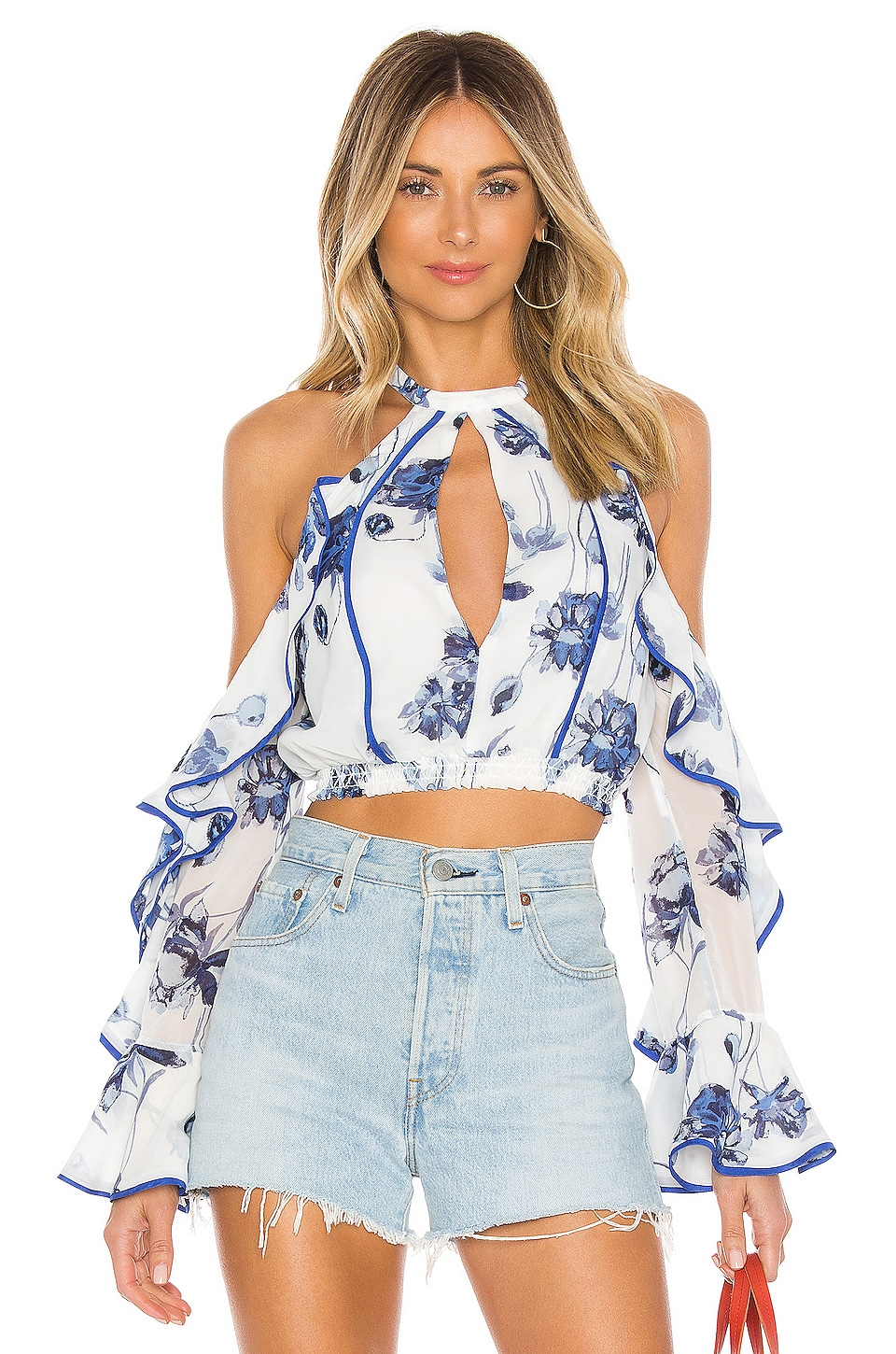 House of Harlow 1960 Harmony Top in Floral Multi