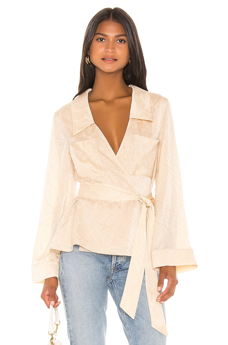 House of Harlow 1960 X REVOLVE Layla Blouse in Cream