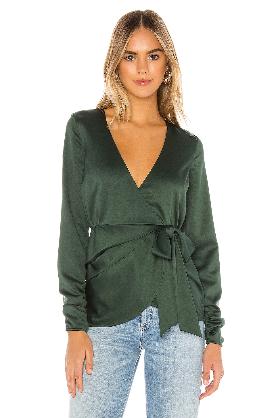 House of Harlow 1960 X REVOLVE Daya Blouse in Emerald