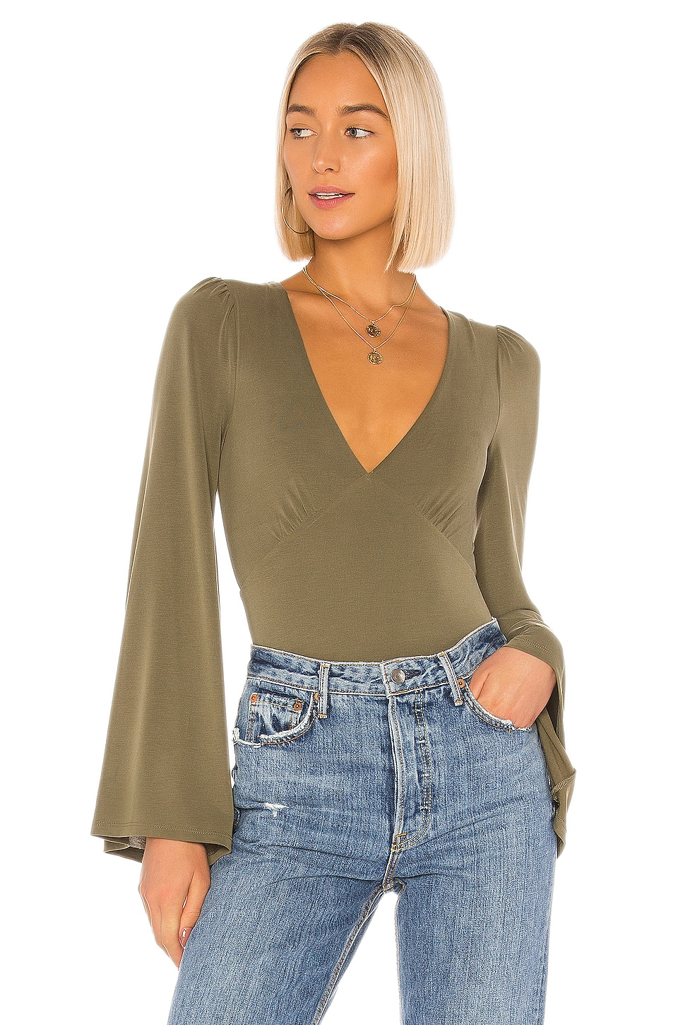 House of Harlow 1960 X REVOLVE Andressa Bodysuit in Olive Green