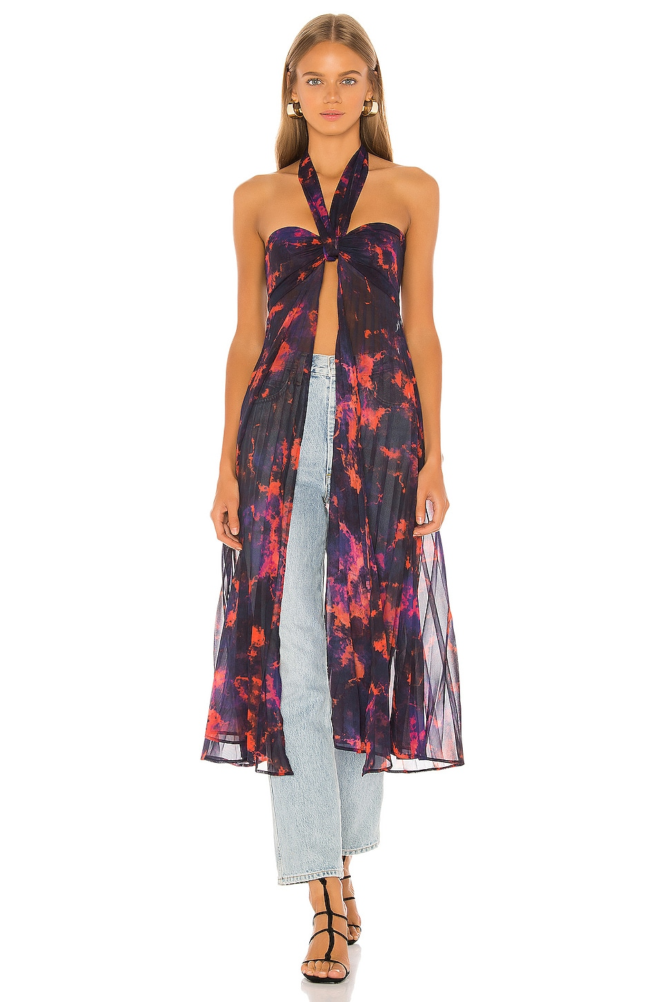 House of Harlow 1960 X REVOLVE Tammy Maxi Top in Purple Tie Dye