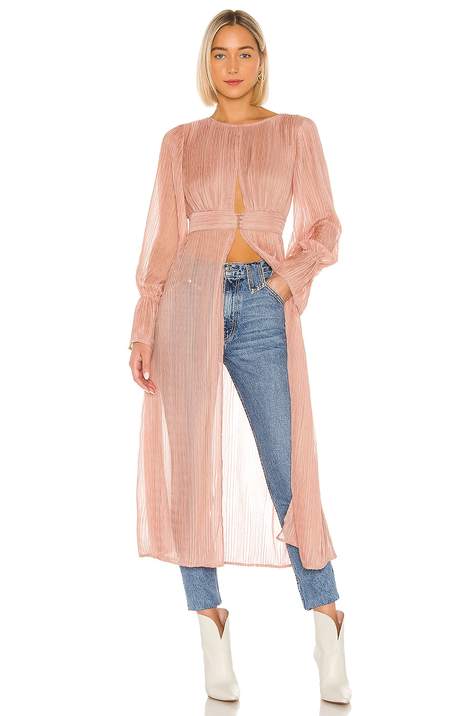 House of Harlow 1960 X REVOLVE Ananda Maxi Top in Rose