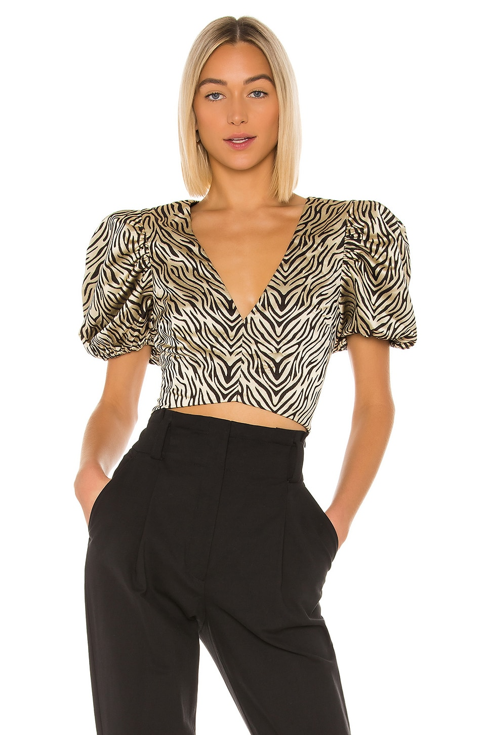 House of Harlow 1960 x REVOLVE Cipriana Top in Cream & Black