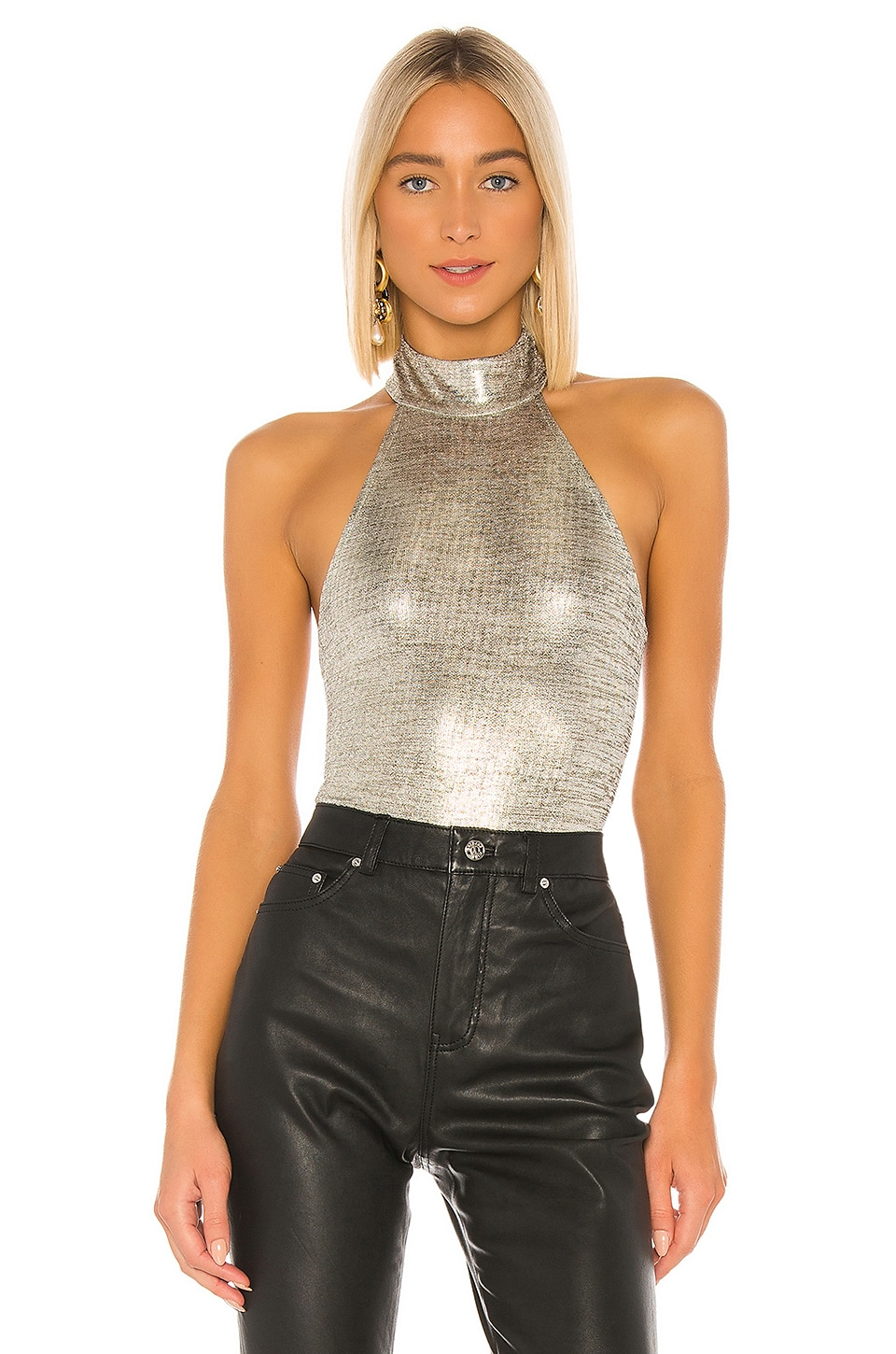 House of Harlow 1960 x REVOLVE Shae Bodysuit in Pewter