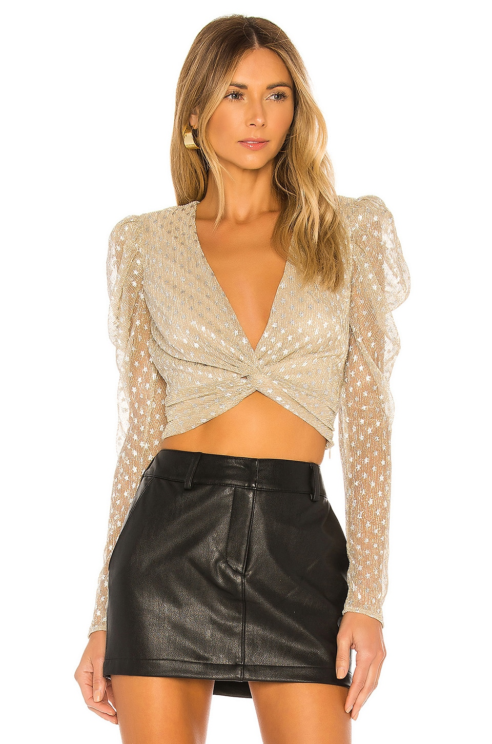 House of Harlow 1960 x REVOLVE Leela Blouse in Metallic Star