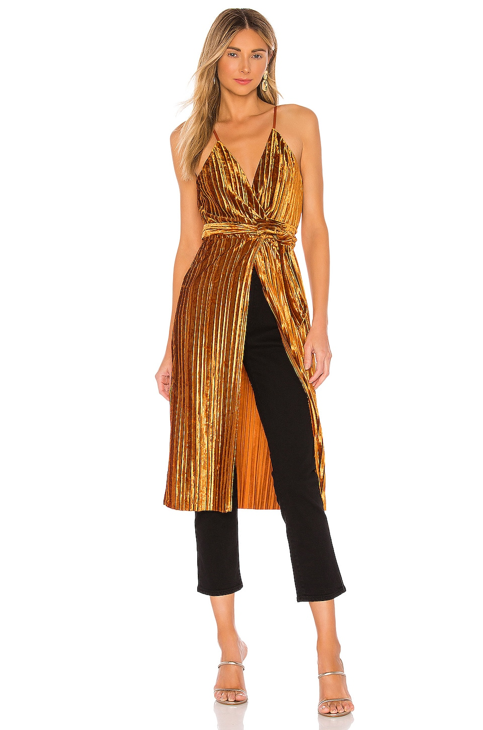 House of Harlow 1960 x REVOLVE Pearl Maxi Top in Rust Red