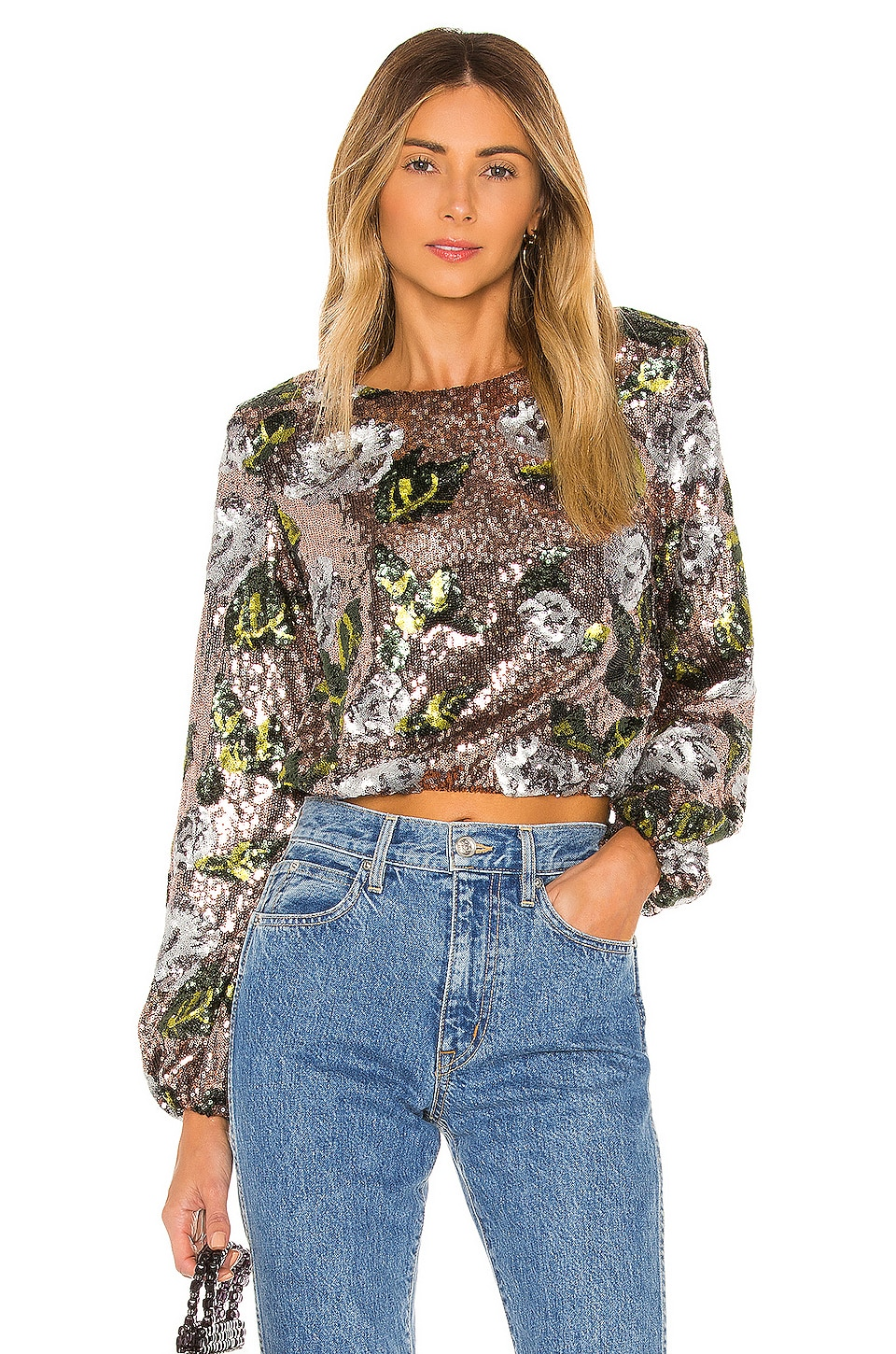 House of Harlow 1960 x REVOLVE Lia Top in Rose Gold Floral