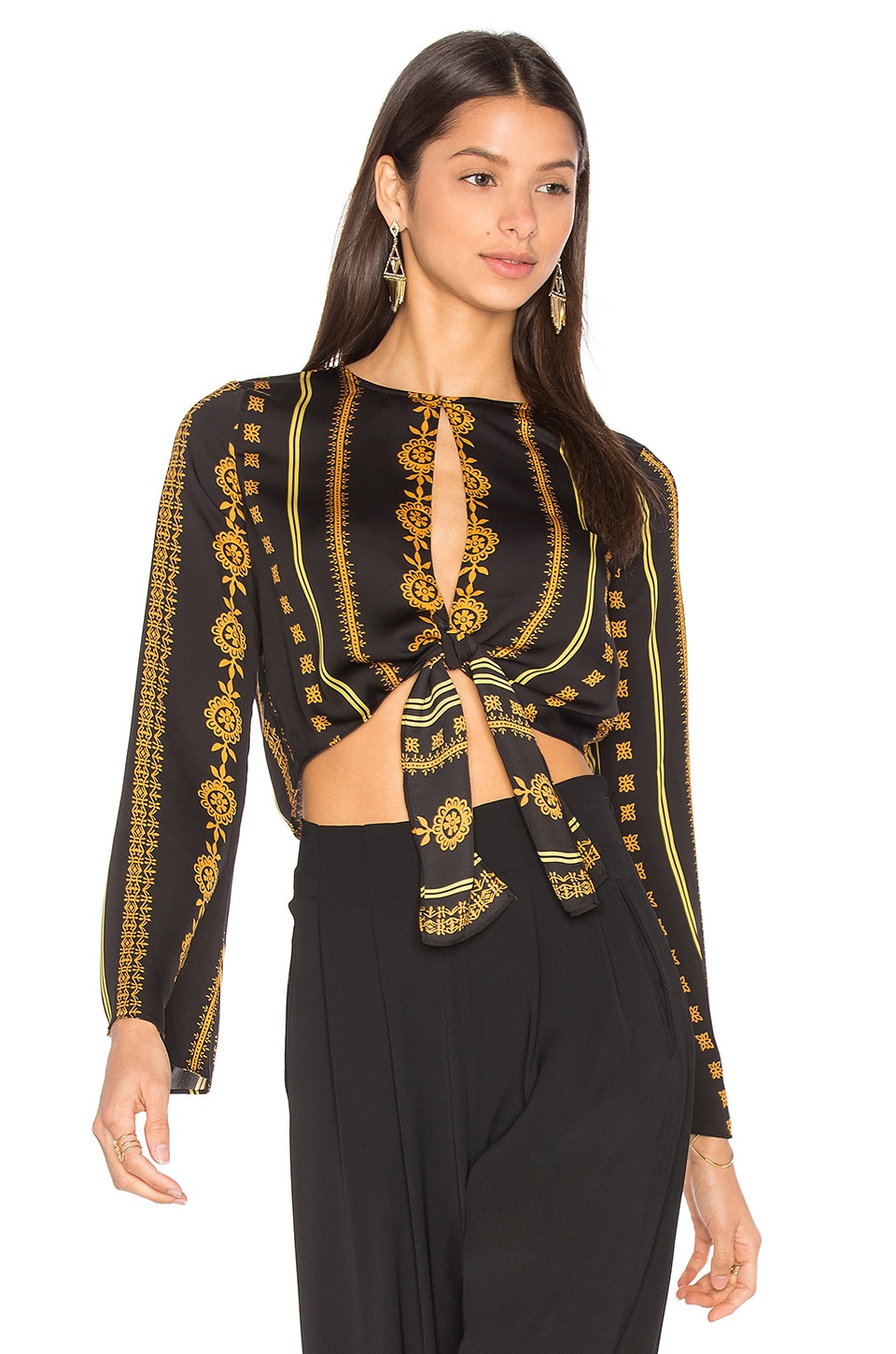 House of Harlow 1960 x REVOLVE Jane Blouse in Noir Pajama Print