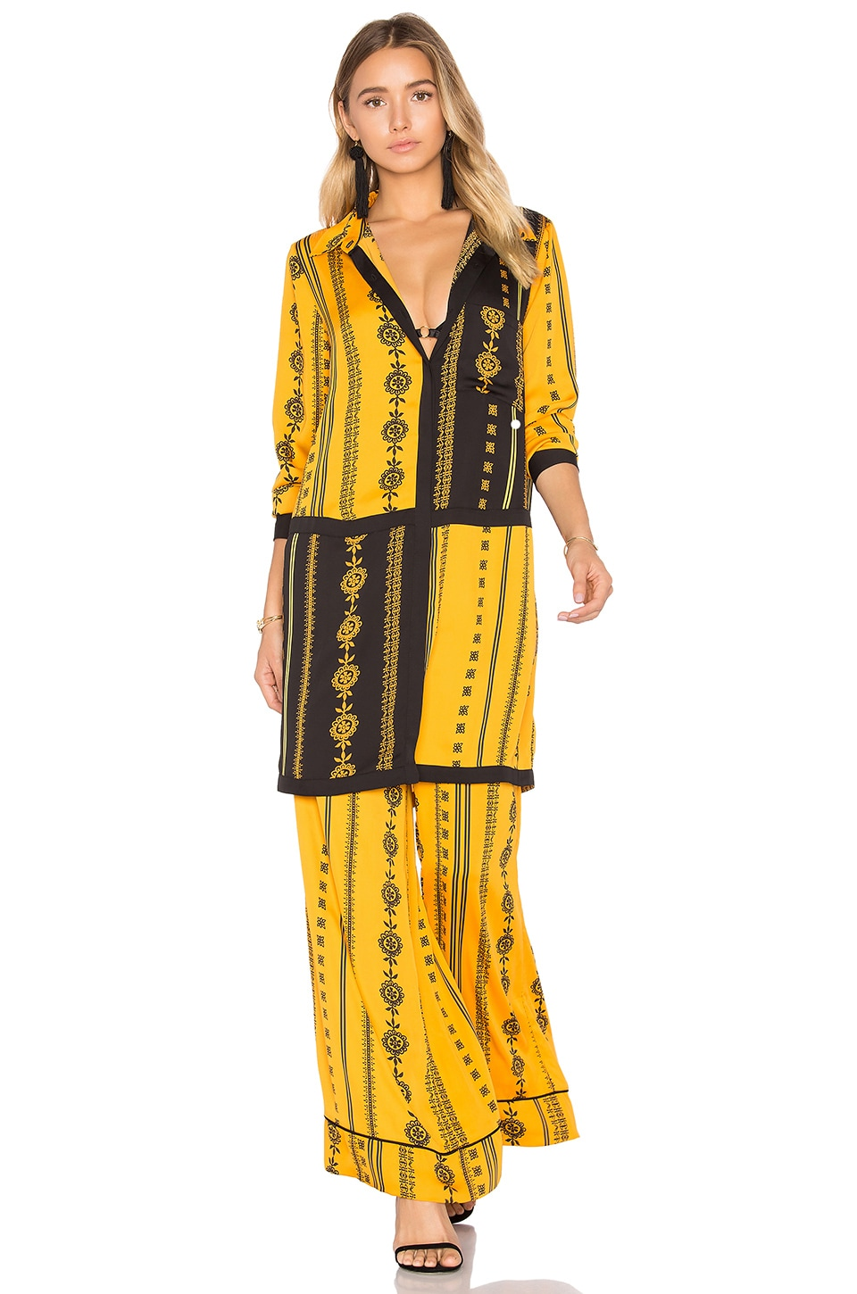 House of Harlow 1960 x REVOLVE Marie Blouse in Inca Pajama Print
