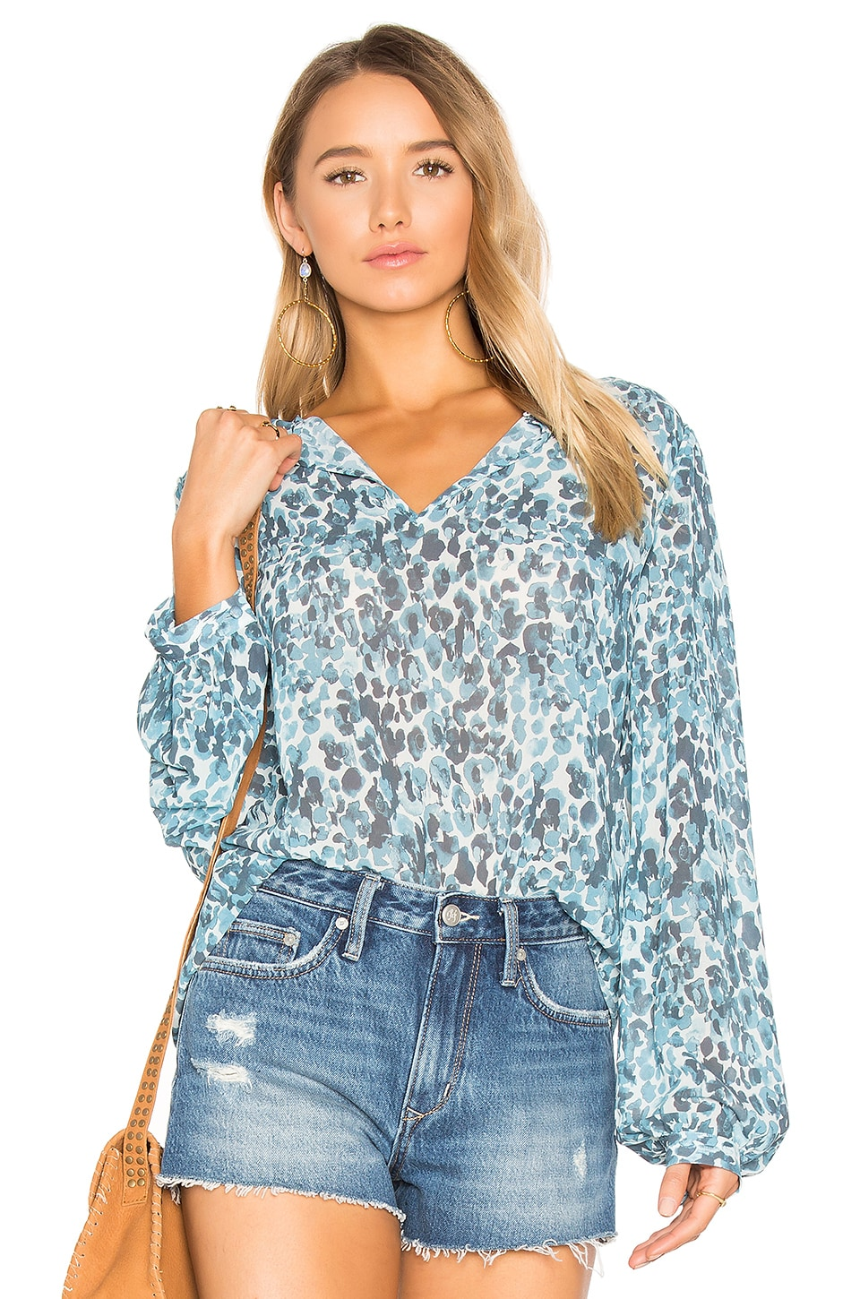 House of Harlow 1960 x REVOLVE Seymore Blouse in Watercolor