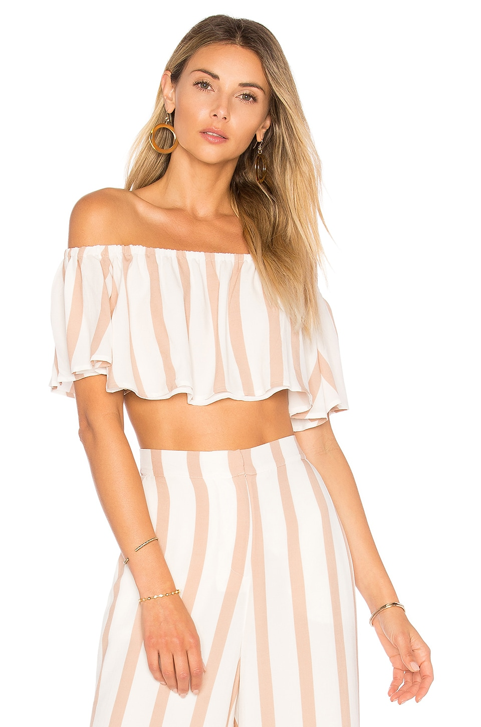 House of Harlow 1960 X REVOLVE Bree Crop Top in Barley