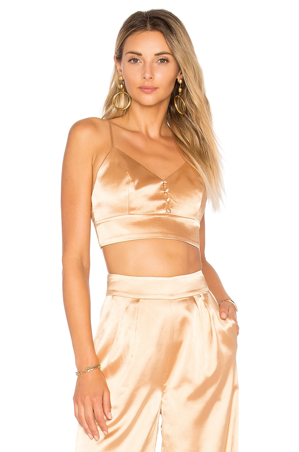 House of Harlow 1960 x REVOLVE Bailey Bralette in Champagne