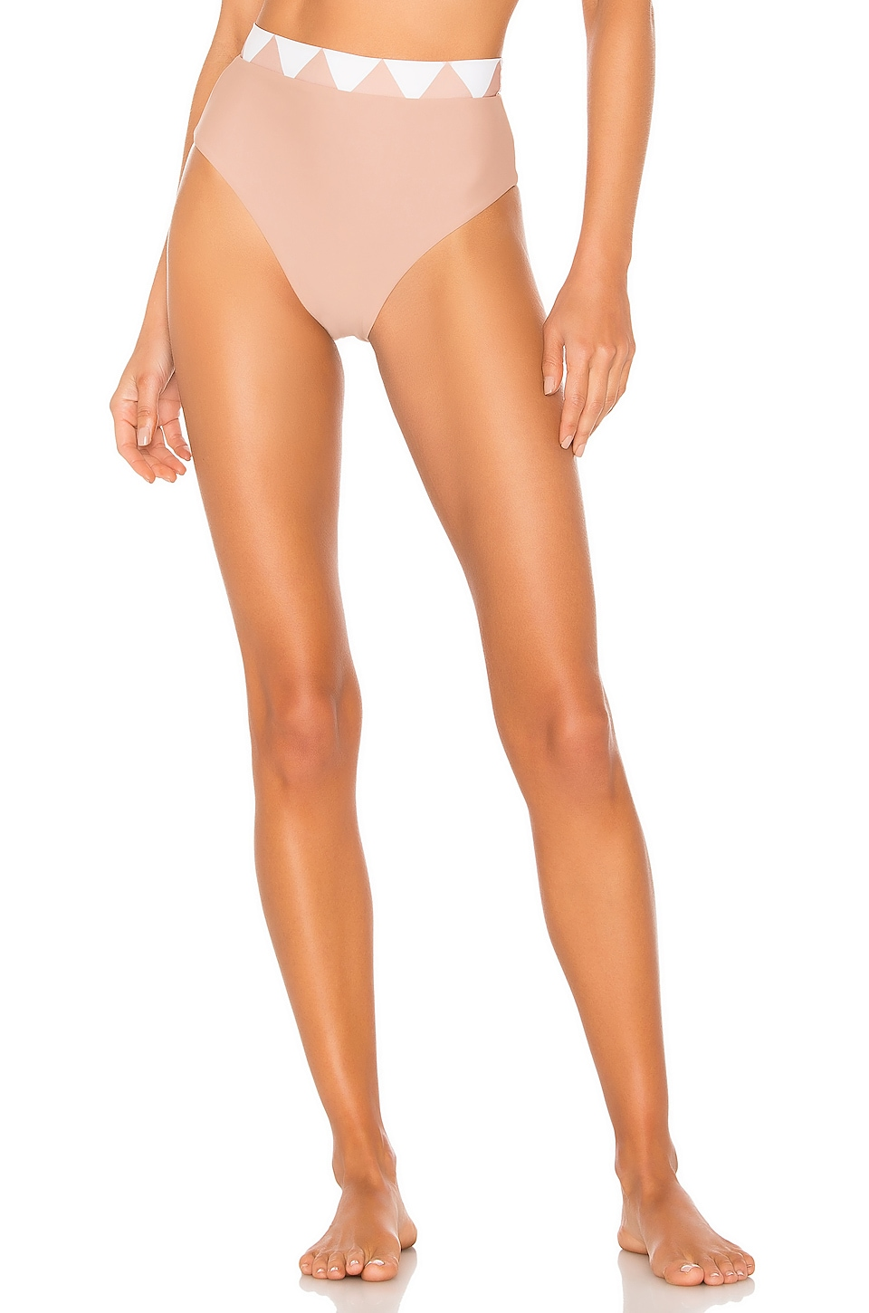 House of Harlow 1960 x REVOLVE Veda High Waist Bottom in Nude & White