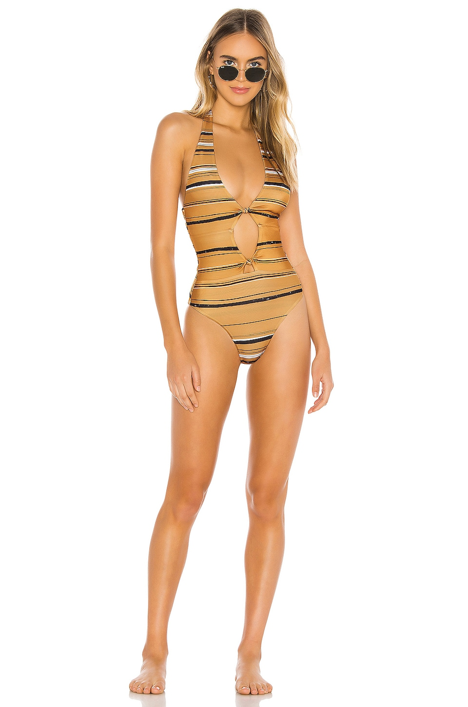 House of Harlow 1960 X REVOLVE Nelly One Piece in Midas Stripe