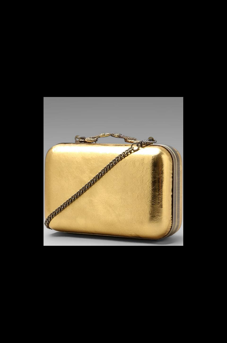 House of Harlow Marley Clutch in Gold Metallic