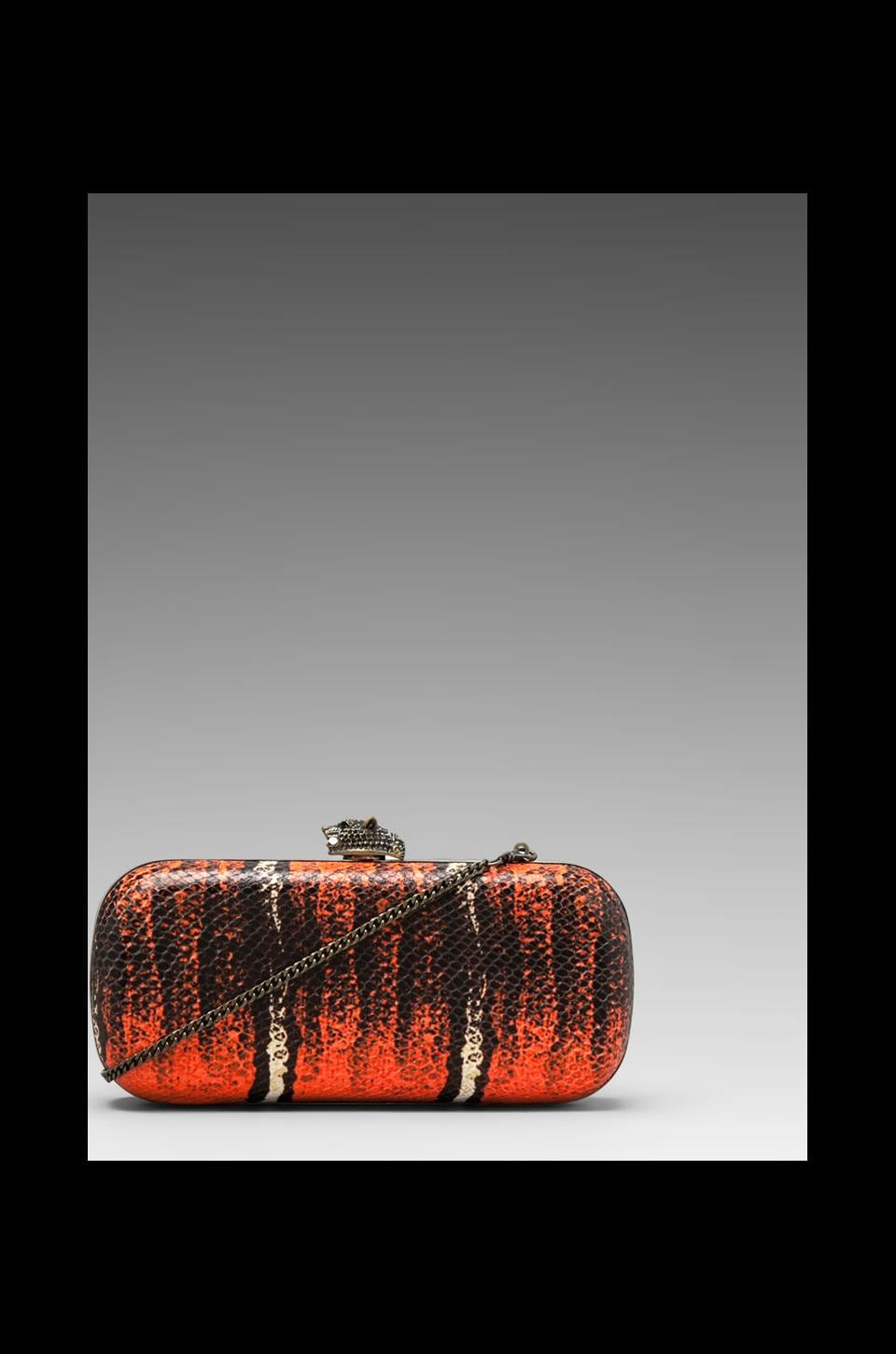 House of Harlow Adele Clutch in Coral/Brass