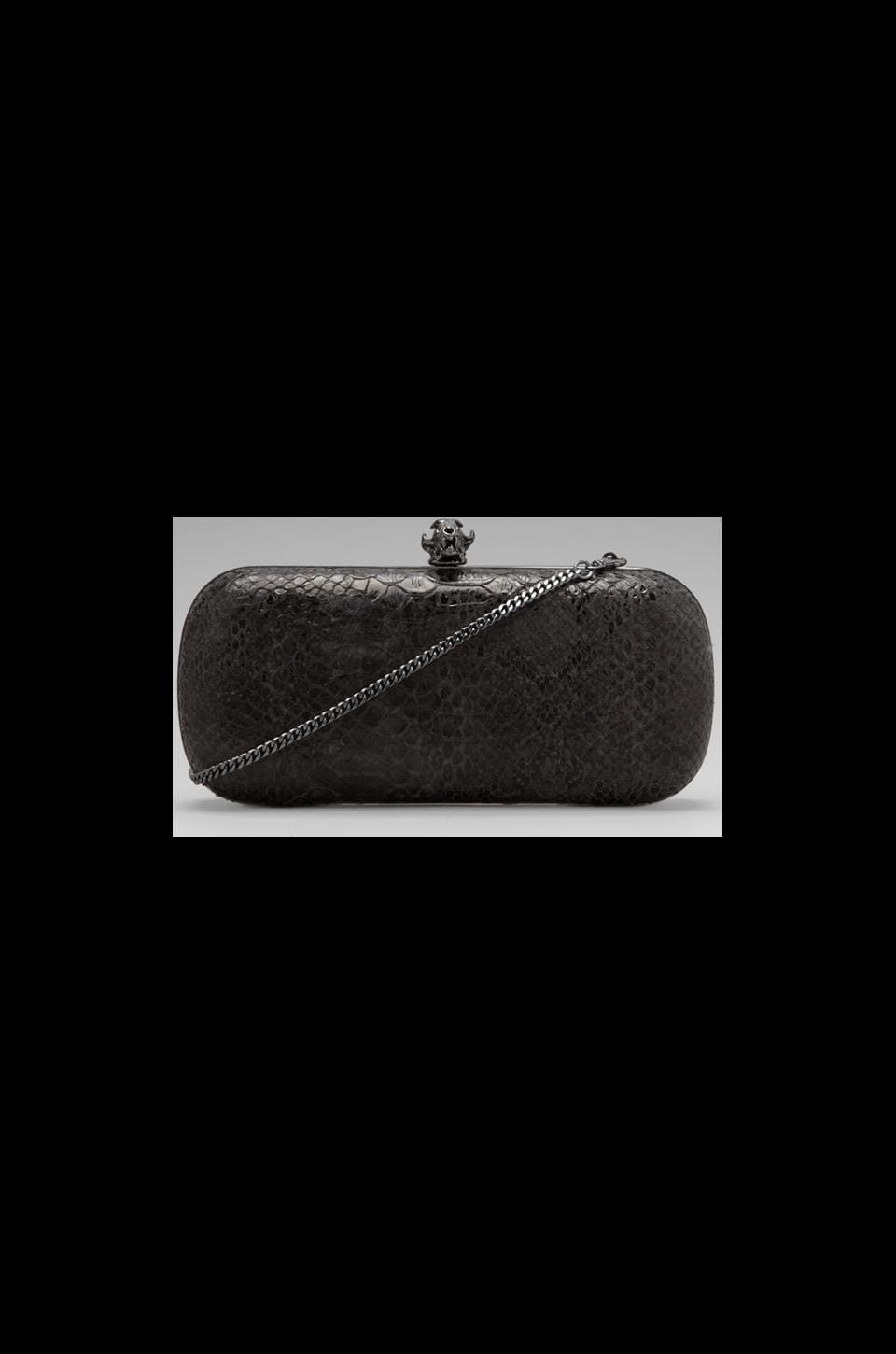 House of Harlow Wynn Clutch in Black/Grey Snake