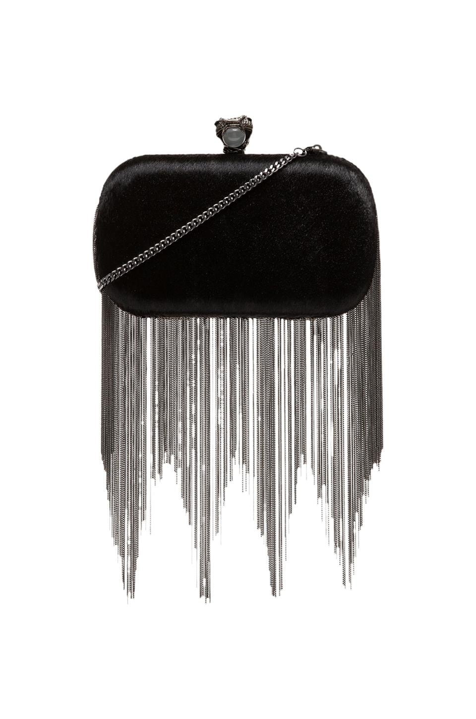 House of Harlow Jude Clutch in Bordeaux Haircalf